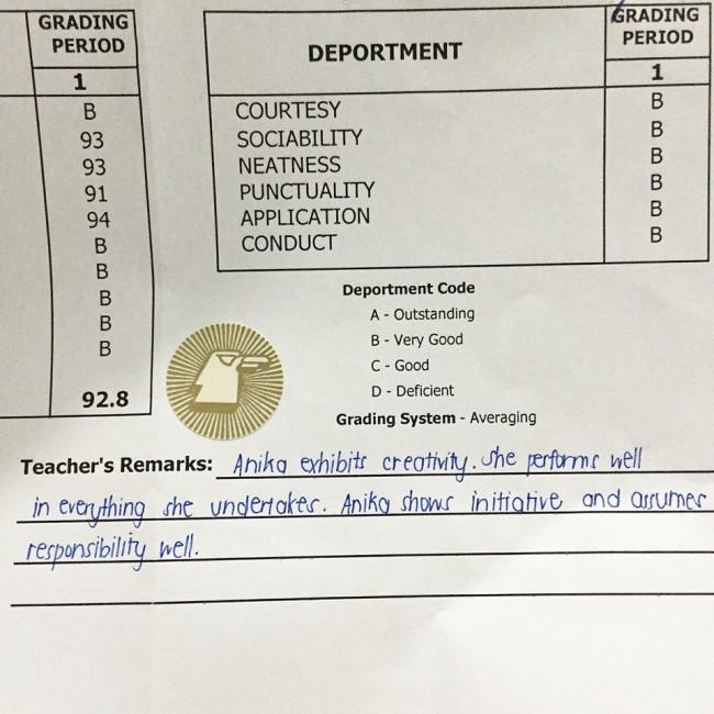 grading system in hindi